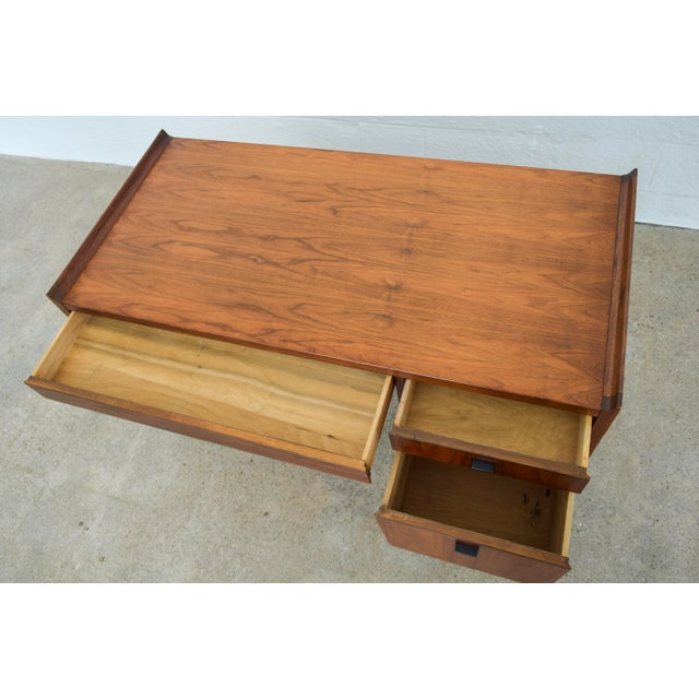 Mid Century Modern Jens Risom Style Solid Walnut Desk