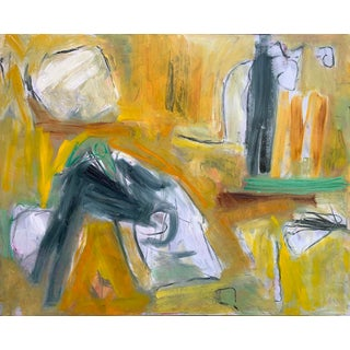 """""""Cat and Mouse"""" by Trixie Pitts Extra-Large Abstract Oil Painting For Sale"""