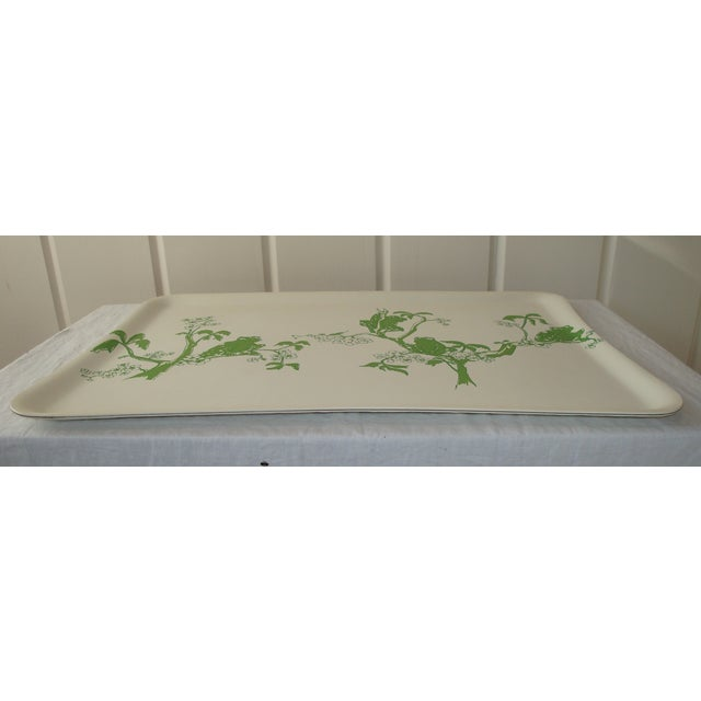 1970s Kelly Green Frogs Bar Drinks Tray - Image 2 of 3