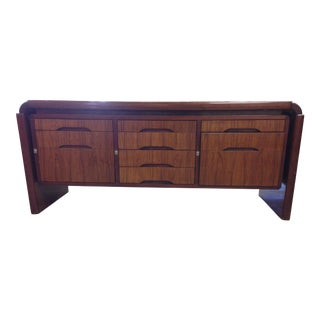 Mid-Century Rosewood Floating Cabinet For Sale
