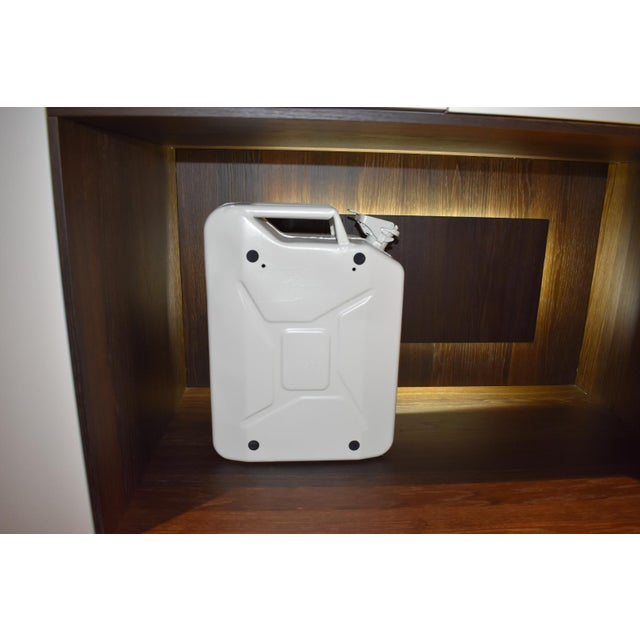 Danish Fuel White Bar Cabinet For Sale - Image 4 of 9
