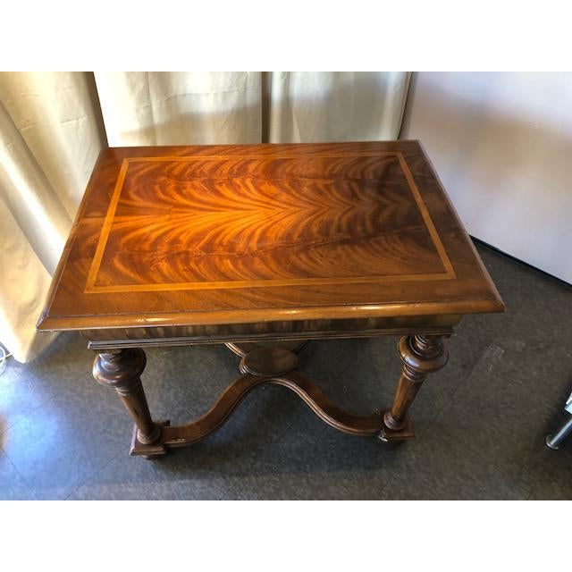 "This ""Dutch Lamp Table"" exemplifies the SUPERB Craftsmanship of the Alfonso Marina Studios. the Flamed top veneer is..."
