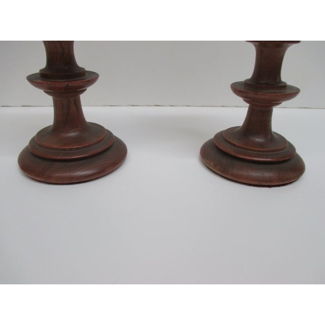 Contemporary Pair of English Antique Wooden Cups For Sale - Image 3 of 6