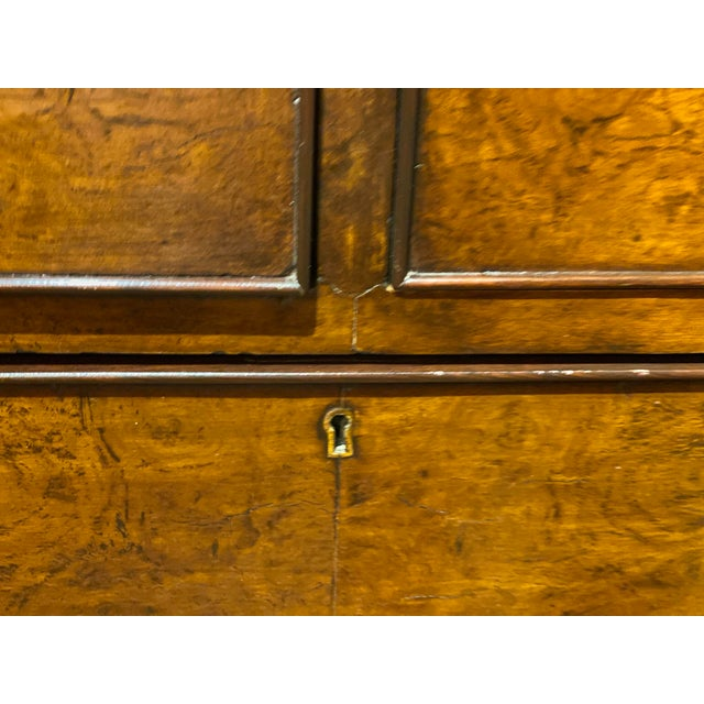 Wood 19th Century English Walnut Five Drawer Chest For Sale - Image 7 of 12