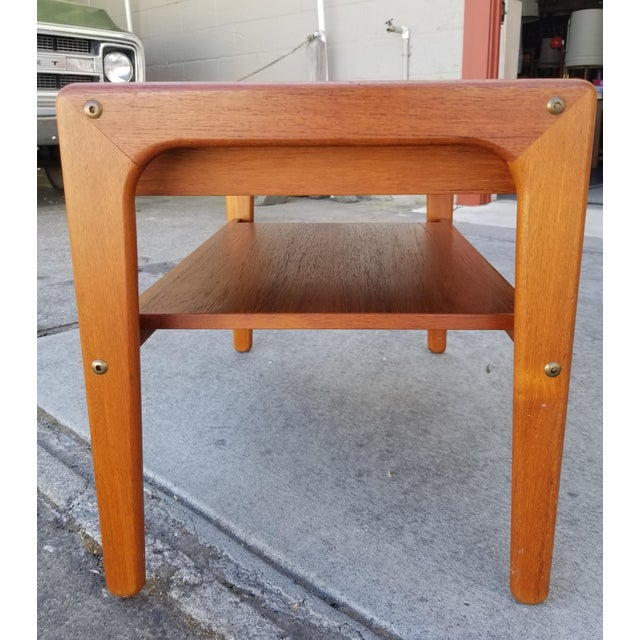 Mid-Century Modern Teak Danish Modern Side Table With Drawer For Sale - Image 3 of 11