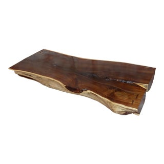 "African Leadwood Slab ""Monumental"" Coffee Table For Sale"