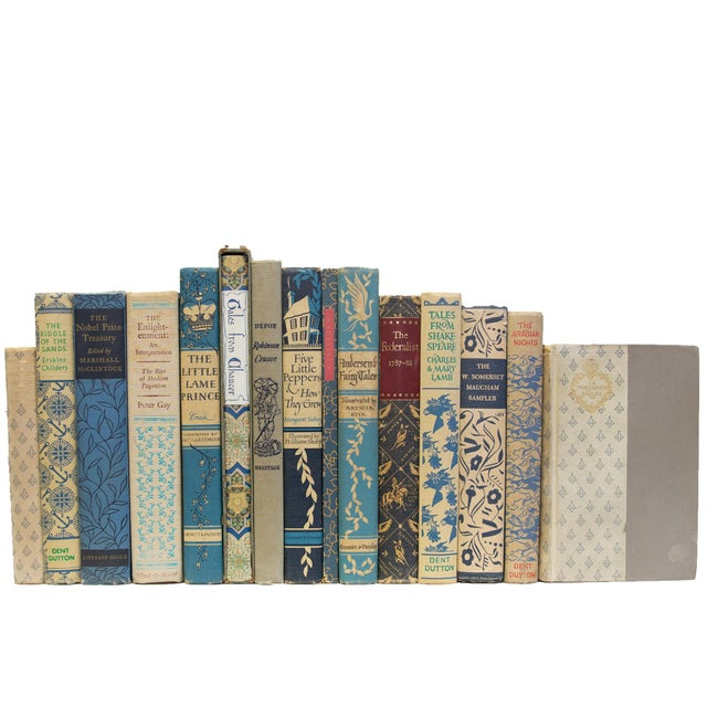 Vintage Blue Willow Books - Set of 15 For Sale - Image 4 of 4