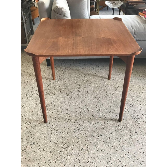 1950s Mid-Century Modern Finn Juhl for Baker Teak Card Table For Sale - Image 10 of 10