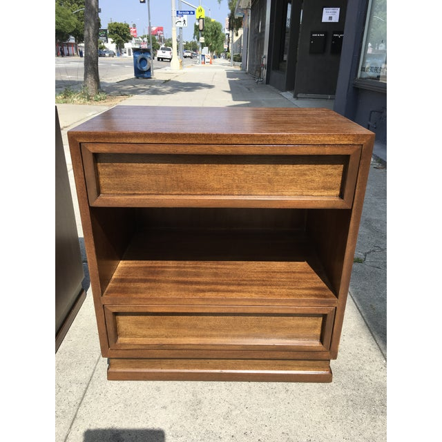 1950s Mid Century Modern Triangle Brand Mahogany Nightstands - a Pair For Sale - Image 9 of 11