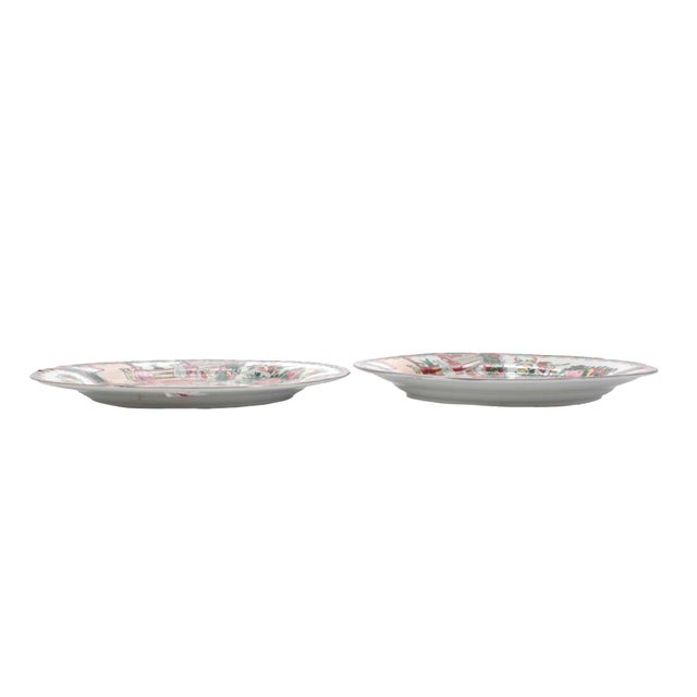 Ceramic Chinese Porcelain Famille Rose Medallion Dishes, Service for 7 For Sale - Image 7 of 10