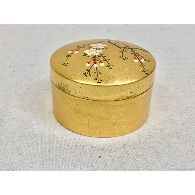 Otagiri Company Vintage Japanese Set of Lacquered Gold Coasters With Box For Sale - Image 4 of 11