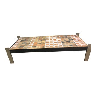 Roger Capron Mid-Century Modern Low Coffee Table For Sale