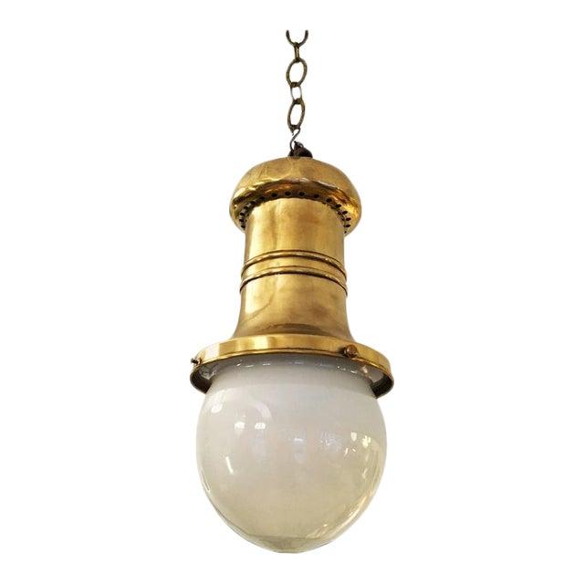 Antique Art Nouveau department store hanging lamp For Sale