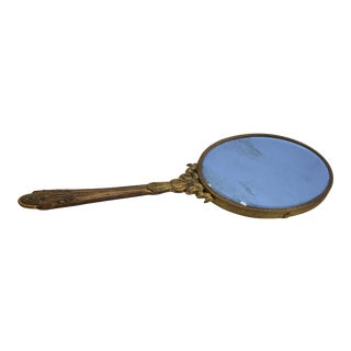 Antique French Hand Held Mirror For Sale