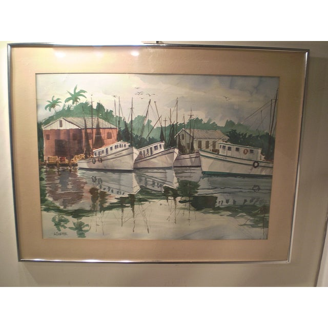 Shrimp Boats Watercolor - Image 2 of 5