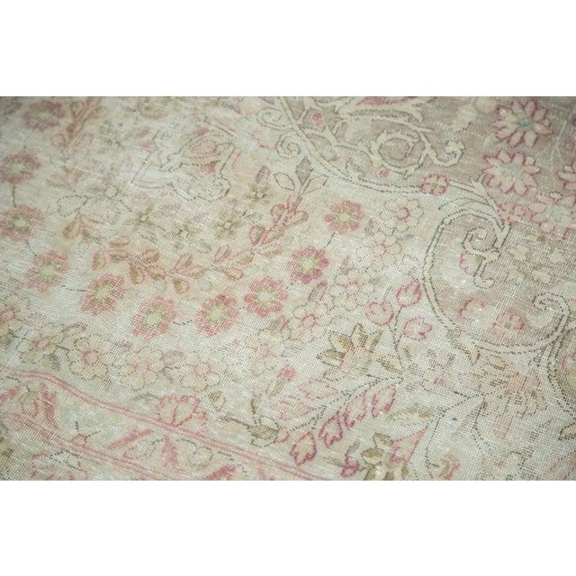 "Vintage Distressed Meshed Carpet - 9'3"" x 12'5"" For Sale - Image 9 of 10"