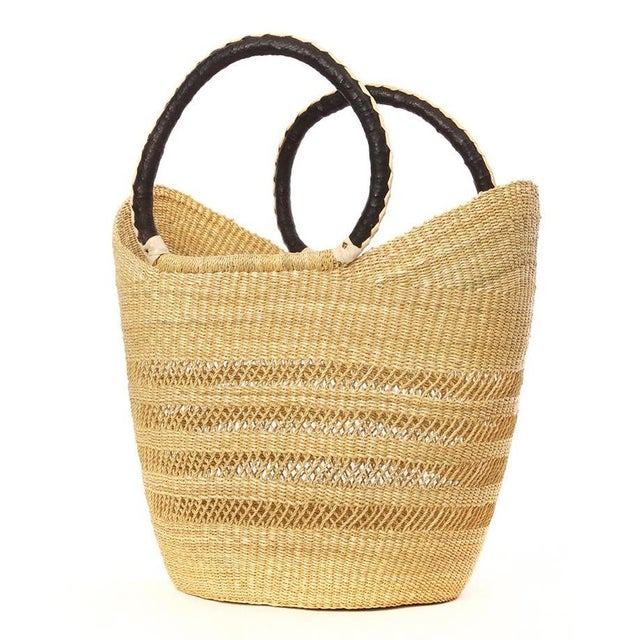 African African Bolga Ghana Woven Yikene Basket For Sale - Image 3 of 4
