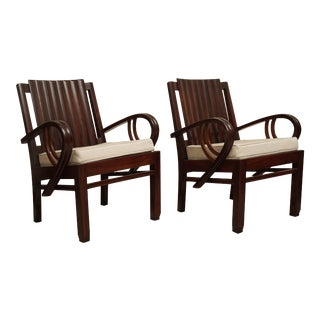 Art Deco Rosewood Chairs- a Pair For Sale