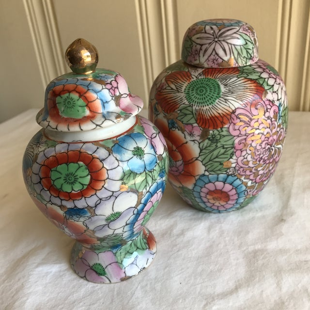 Chinoiserie Ceramic Ginger Jars - A Pair - Image 8 of 8