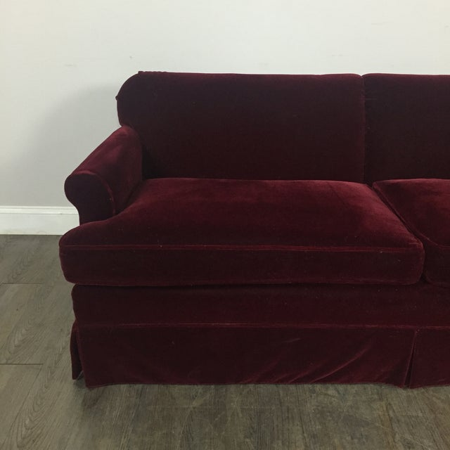 Vintage Mohair Sofa For Sale - Image 4 of 11