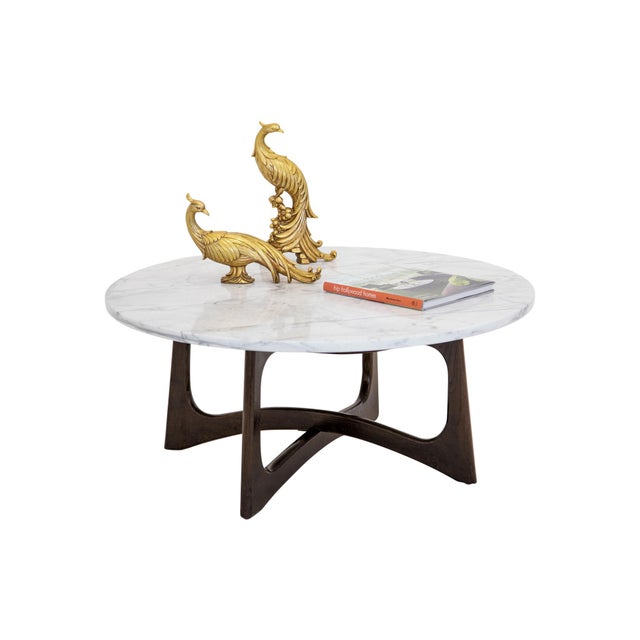 Craft Associates Adrian Pearsall Marble Top Coffee Table For Sale - Image 4 of 9
