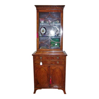 18c Sheraton Satinwood Display Cabinet For Sale