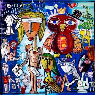 """Napule Terra Mia"" Original Painting by Alessandro Siviglia For Sale"