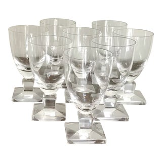 Vintage Modern Orrefors Crystal Wine Glasses - Set of 8 For Sale