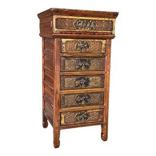 Vintage Asian Carved Side Table For Sale