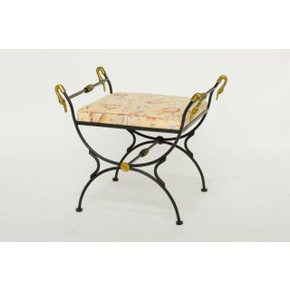 1960s Vintage Iron and Brass Classical Swan Bench Preview