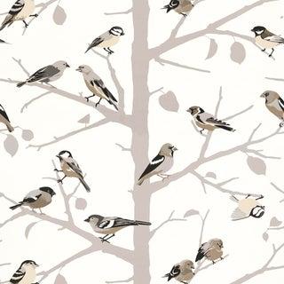 Sample - Schumacher A-Twitter Wallpaper in Winter For Sale