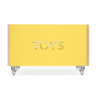 Toy Box Chest on Casters in Birch With Yellow Finish Preview