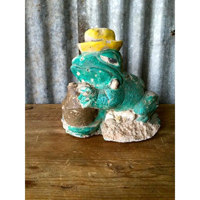 Vintage Concrete Frog - Image 6 of 8