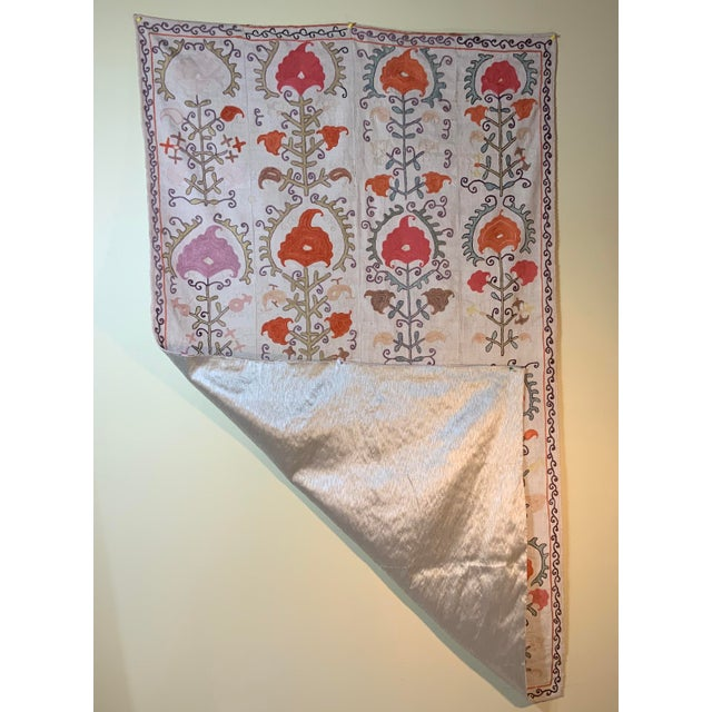 Antique Suzani Panel Wall Hanging For Sale - Image 12 of 13
