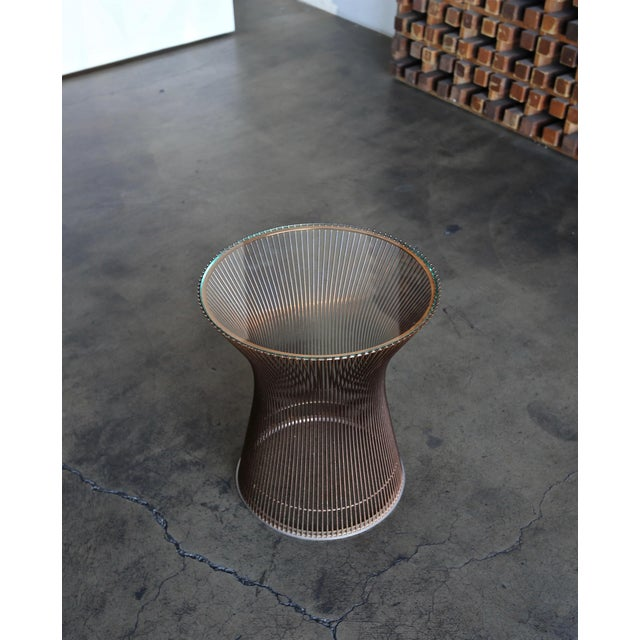 1960s 1965 Warren Platner for Knoll Copper Occasional Table For Sale - Image 5 of 9