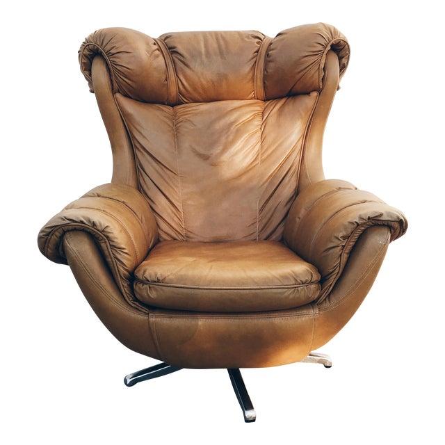 Mid-Century Swivel Egg Armchair - Image 1 of 9