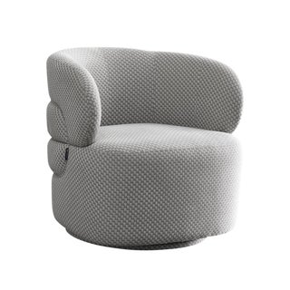 Modern Pasargad Home Noho Collection Bleeker Silver Accent Chair For Sale