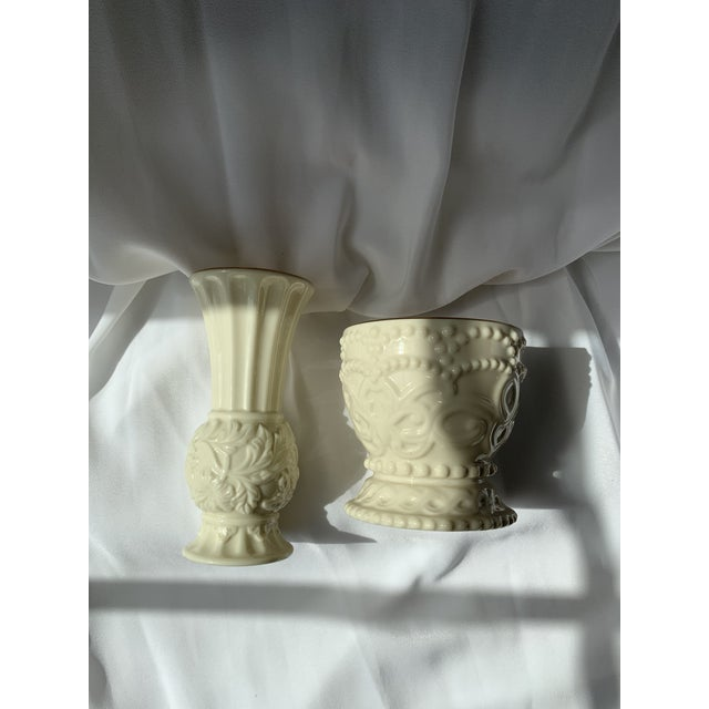 Lenox Bud Vase and Dish From Lenox - Set of 2 For Sale - Image 4 of 6