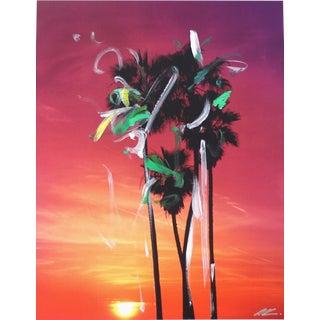 """Palms at Sunset"" Original Artwork by Pete Kasprzak For Sale"