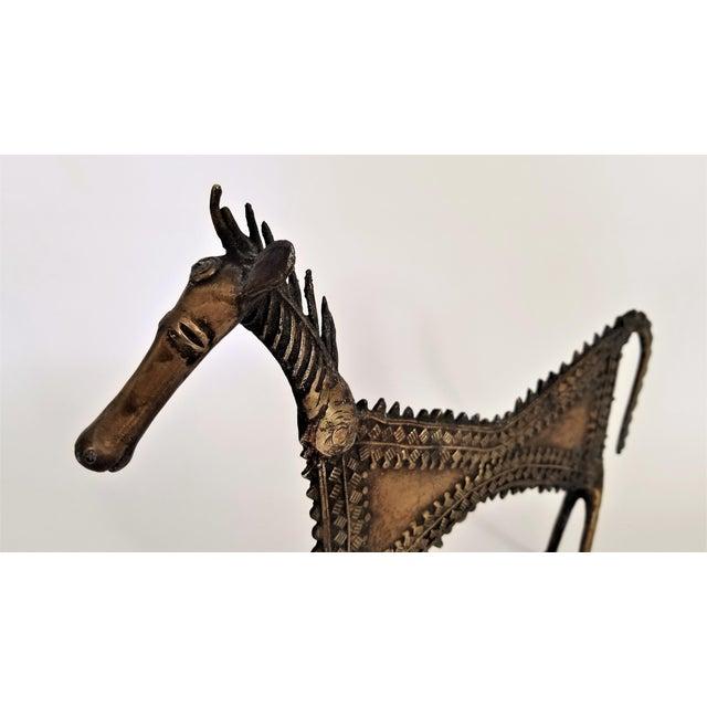 Brutalist 1960s Vintage Brutalist Solid Brass Horse Sculpture For Sale - Image 3 of 13