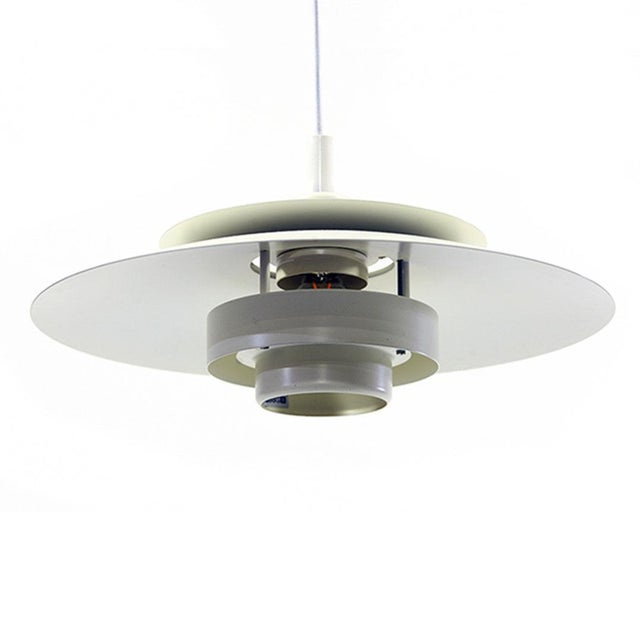 1970s Denmark 1970s Simon P. Henningsen for Lyskaer Belysning Pendant Light For Sale - Image 5 of 10