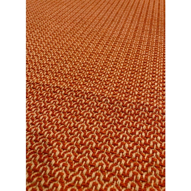 Modern Modern Orange / Taupe Melange Multipurpose Fabric - 4.25 Yards For Sale - Image 3 of 4