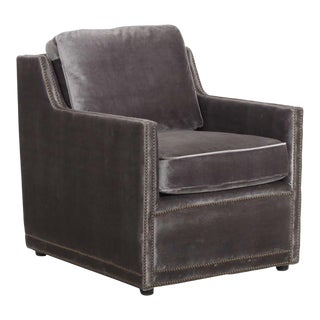 "Brand New ""Posh"" Charcoal Velvet Club Chair by Regina-Andrew Design"