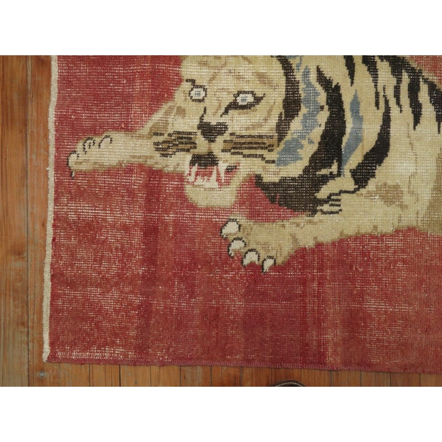 Mid 20th Century Vintage Turkish Tiger Rug , 2'6'' X 3'9'' For Sale - Image 5 of 6