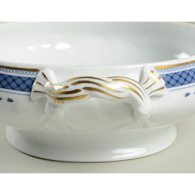 Mottahedeh Indigo Covered Serving Bowl For Sale In Greensboro - Image 6 of 11