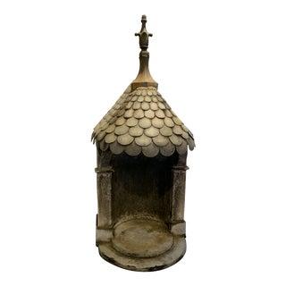 19th Century Antique French Zinc Niche For Sale