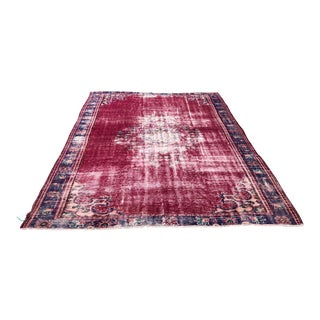 1960s Vintage Turkish Oushak Rug - 7′6″ × 10′ For Sale