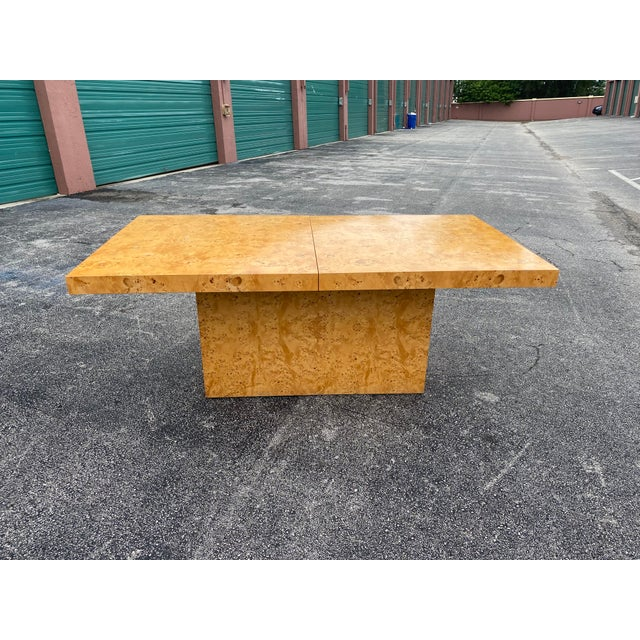 1970s MidCentury Dillingham Burl Wood Dining Table For Sale - Image 5 of 12