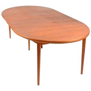 Large Early Vintage Scandinavian Modern Dining Table in Teak by Moreddi For Sale