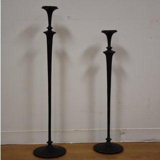 Tall Arts & Crafts Candlesticks - A Pair Preview